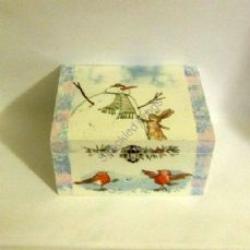 'Snowman'  Jewellery/Trinket Box